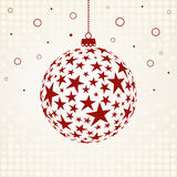 Christmas ball with stars Stock Photo
