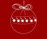 Christmas ball with stars inside Royalty Free Stock Photography