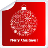 Christmas Ball Sticker Royalty Free Stock Images