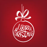 Christmas ball symbol drawn  vector illustration Stock Images