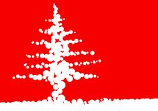 Christmas ball tree. Christmas tree artwork stilyzed with balls Royalty Free Illustration