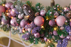 Christmas ball. On the tree Royalty Free Stock Photography