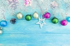 Christmas ball, tree holiday on a wooden background celebration. Christmas ball, tree holiday a wooden background celebration stock images