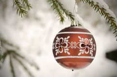 Christmas ball on tree twig Stock Photography