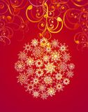Christmas ball.  Vector illustration Royalty Free Stock Image