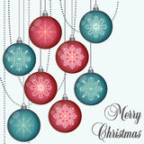 Christmas ball vector illustration. Christmas balls new year sybols colorful trendy beautiful vector illustration Royalty Free Stock Photos