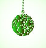 Christmas ball. Vector illustration. Stock Images