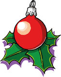 Christmas ball. A vector illustration of a red christmas ball Royalty Free Stock Images