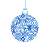 Christmas ball on white background Royalty Free Stock Photography