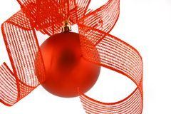 Christmas ball on a white background Royalty Free Stock Photo