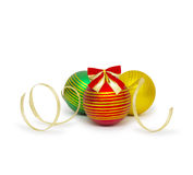 Christmas ball  on white background cutout Stock Photo