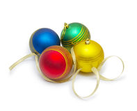Christmas ball  on white background cutout Royalty Free Stock Photos