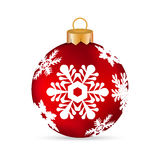 Christmas ball on a white background Royalty Free Stock Photos