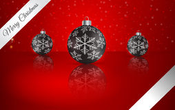 Christmas ball  on winter background with snow and snowflakes.. Christmas ball  on winter background with snow and snowflakes Stock Photography