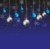 Christmas ball with wire and stars Royalty Free Stock Image