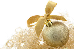 Free Christmas Ball With Ribbon Stock Photography - 16063752