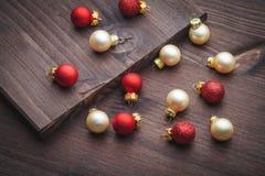 Christmas ball on wood Stock Image