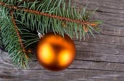 Christmas Ball on Wood Royalty Free Stock Photos