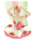 Christmas Ballerina Stock Photo