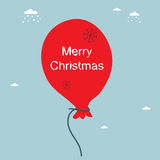 Christmas balloon Royalty Free Stock Photo