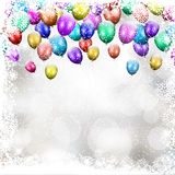 Christmas balloon background Royalty Free Stock Images
