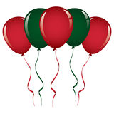 Christmas balloon ribbon Royalty Free Stock Photos