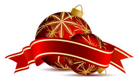 Christmas balloons Stock Photo