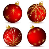 Christmas balloons Stock Images