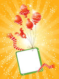 Christmas balloons royalty free illustration
