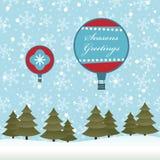 Christmas balloons Royalty Free Stock Photos