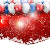 Christmas balloons background Stock Photos