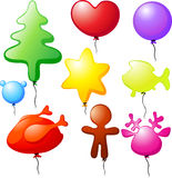 Christmas balloons - speech bubble Royalty Free Stock Images