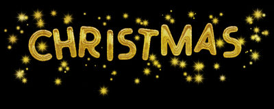 Christmas balloons and stars. Seasonal background. Royalty Free Stock Image