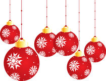 Christmas Balls. Isolated on a white background Stock Photo