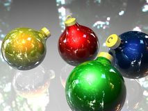 Christmas balls. Of glass. this image has been created with a diagram software 3d Royalty Free Stock Image