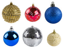 Christmas balls. Isolated on white Royalty Free Stock Images