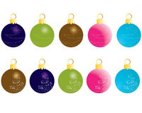 Christmas balls. Set of Christmas (New Year) balls for design use. Vector illustration Stock Images