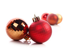 Christmas balls. Christmas  balls ( red and gold Royalty Free Stock Image