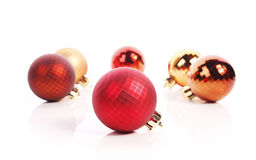 Christmas balls. Christmas  balls ( red and gold Stock Image