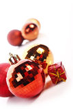 Christmas balls. Christmas  balls ( red and gold Stock Photo