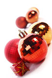 Christmas balls. Christmas  balls ( red and gold Stock Images