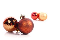 Christmas balls. Christmas  balls ( red and gold Royalty Free Stock Photo