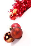 Christmas balls. Christmas  balls ( red and gold Royalty Free Stock Photos