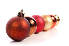 Christmas balls. Christmas  balls ( red and gold Royalty Free Stock Photography