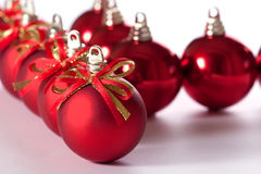 Christmas  balls. Isolated on white background Royalty Free Stock Photography