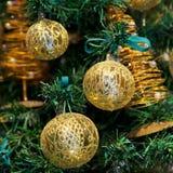 Christmas balls. On Christmas tree Royalty Free Stock Photos