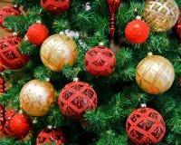 Christmas balls. On Christmas tree Royalty Free Stock Photography