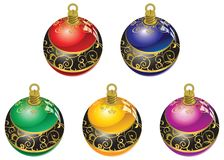 Christmas balls. Accessories for a beautiful Christmas tree Royalty Free Stock Images