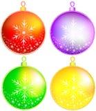 Christmas balls. Vector christmas balls. Golden sphere. Happy new year Stock Photo
