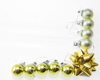 Christmas balls. Christmas-tree balls with lace isolated on white Stock Photo